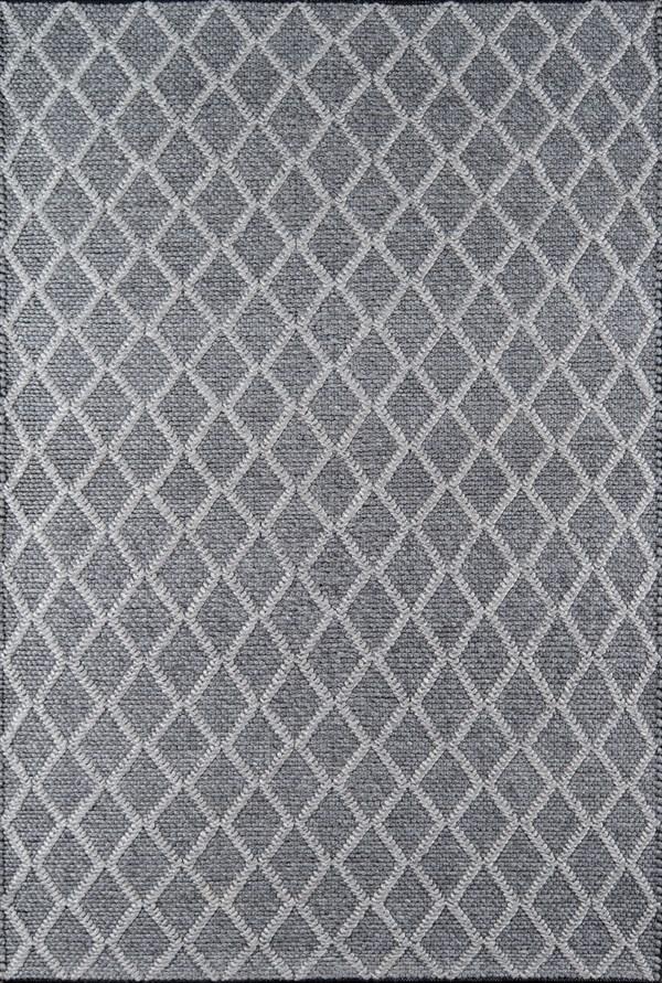Charcoal Geometric Area Rug