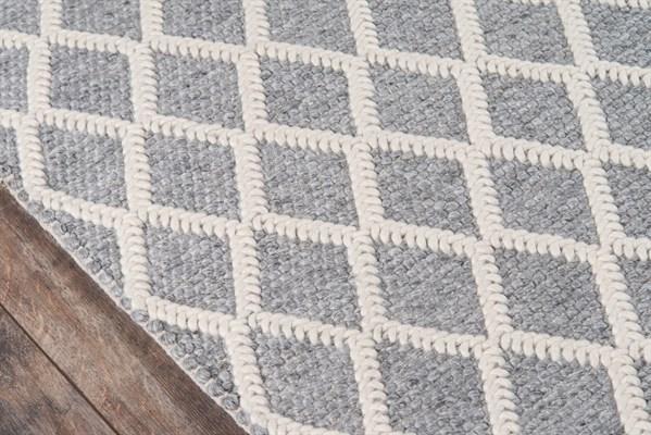 Grey Geometric Area Rug