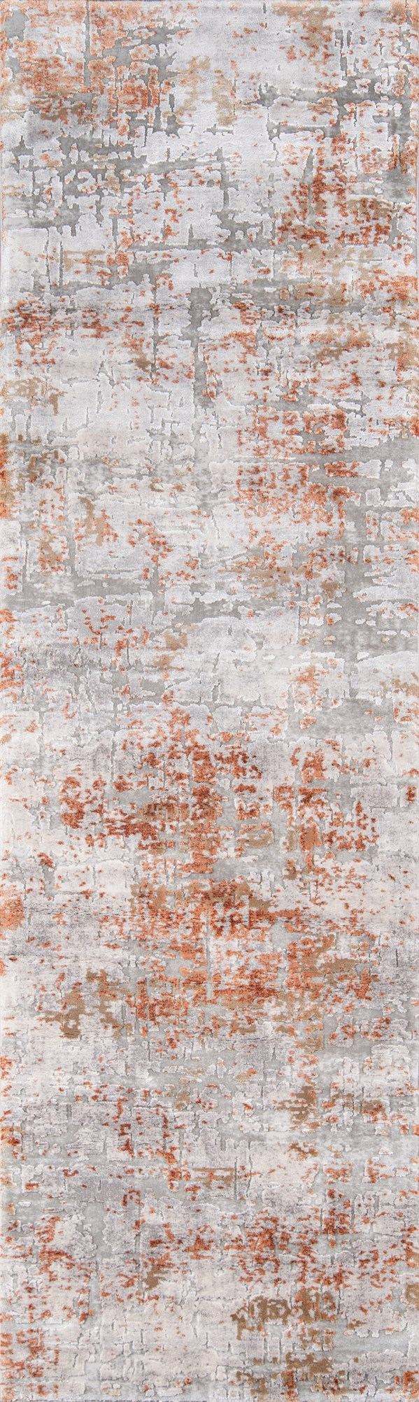 Copper Abstract Area Rug