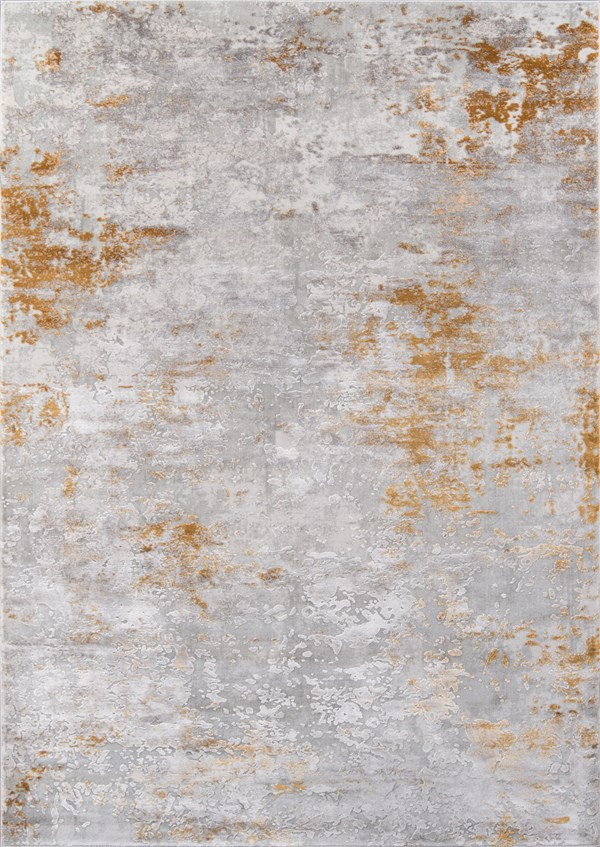 Gold Abstract Area Rug
