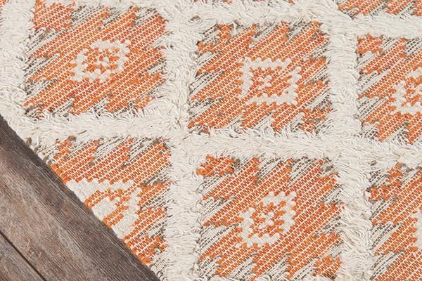 Orange Southwestern / Lodge Area Rug