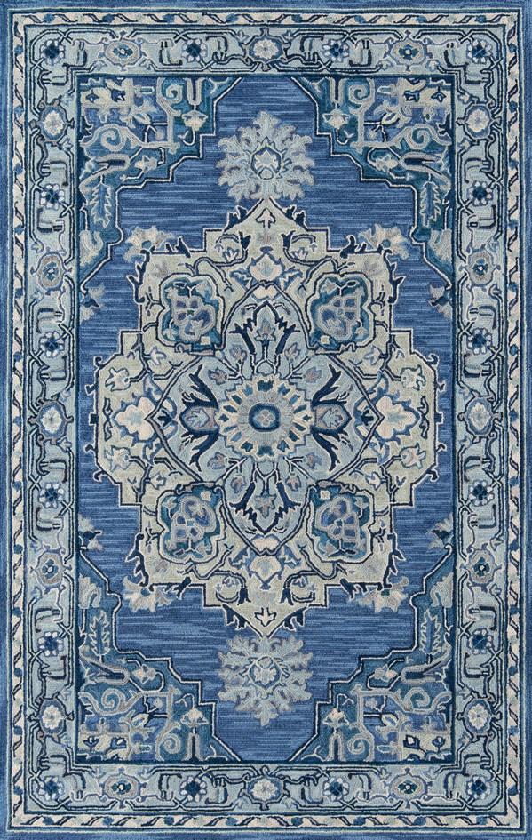 Denim Traditional / Oriental Area Rug