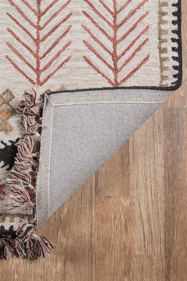 Light Grey, Ivory Southwestern / Lodge Area Rug