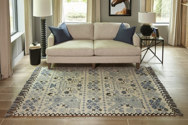 Blue Moroccan Area Rug