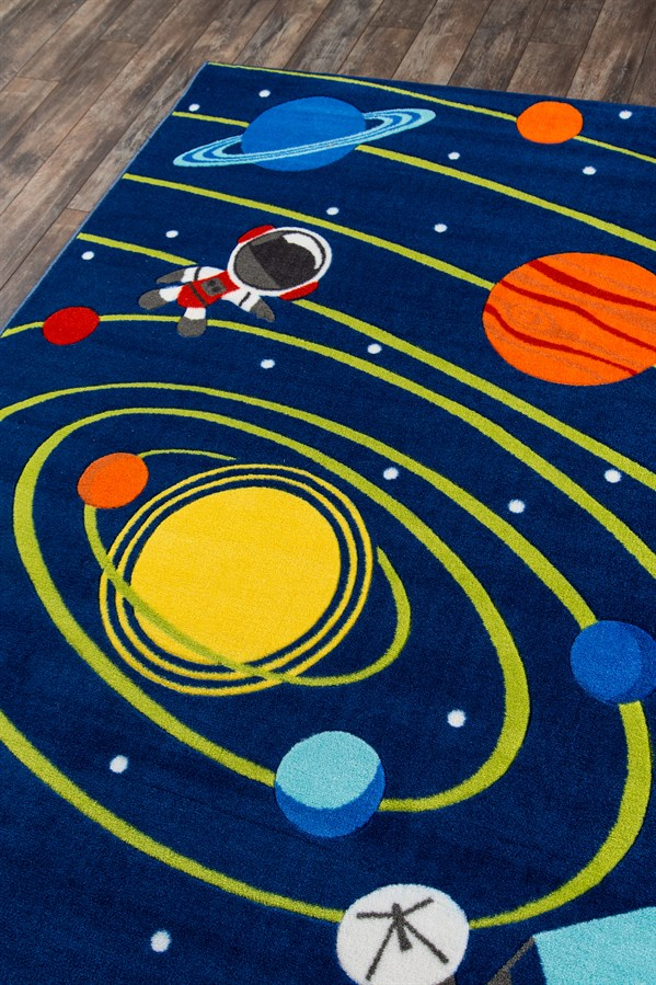 Navy (PLA-03) Children's / Kids Area Rug