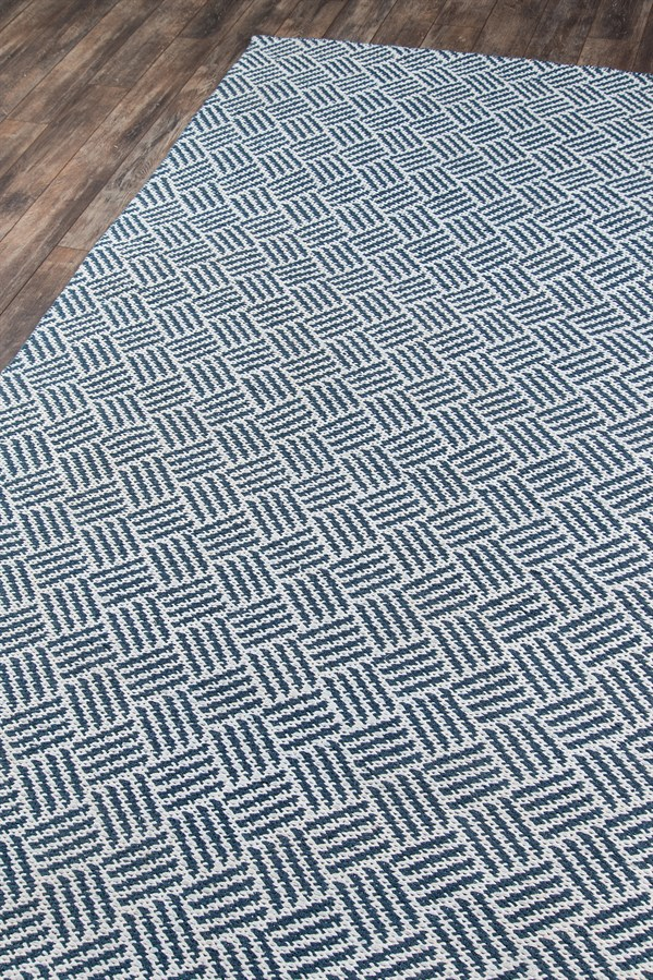 Navy, Ivory Outdoor / Indoor Area Rug