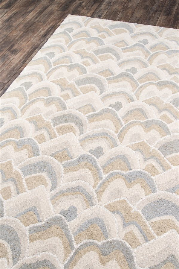 Ivory, Tan, Taupe Transitional Area Rug