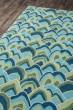 Product Image of Green, Blue, Aqua Transitional Area Rug