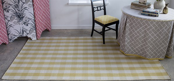 Gold, Yellow, Ivory Natural Fiber Area Rug