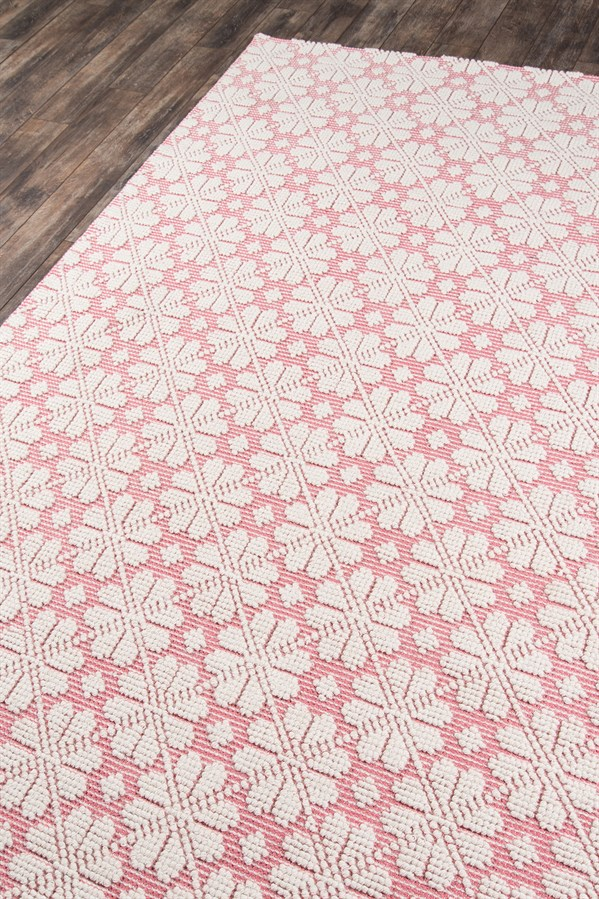 Pink, Ivory Transitional Area Rug
