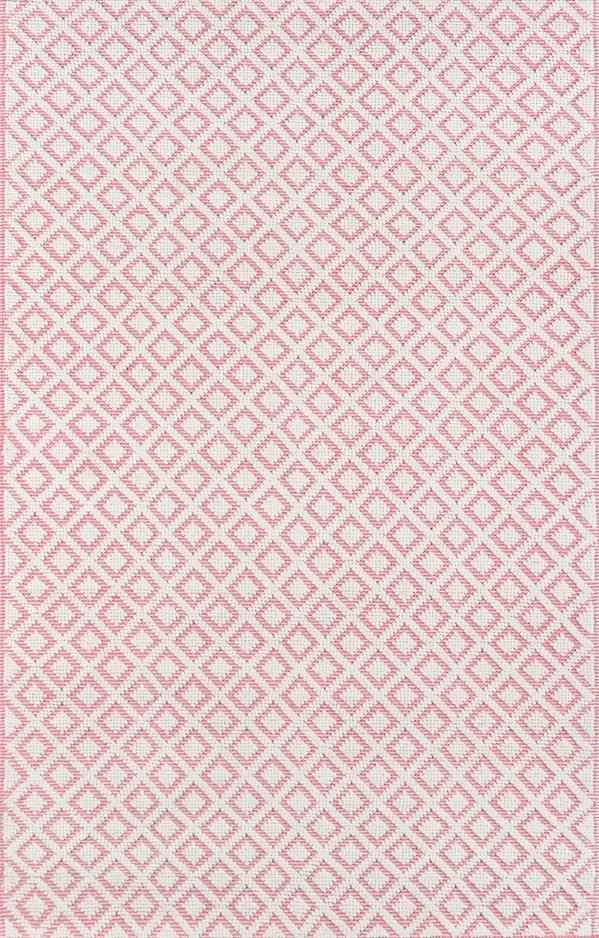 Pink, Ivory Geometric Area Rug
