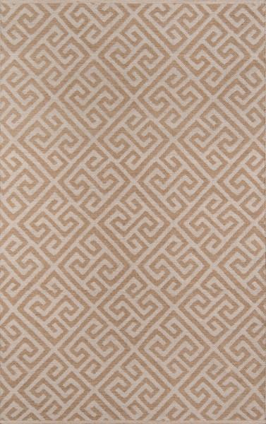 Brown, Ivory Outdoor / Indoor Area Rug