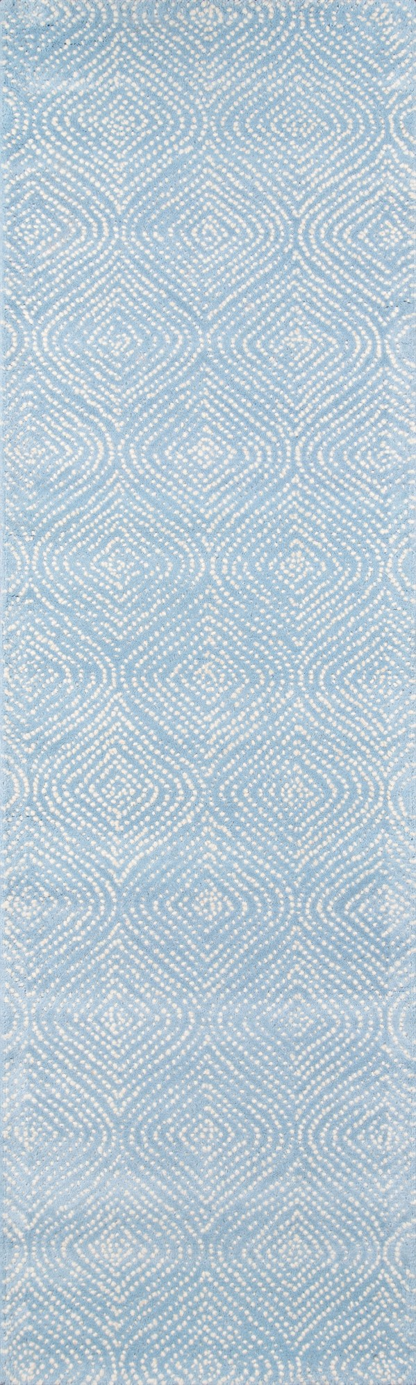 Light Blue, Ivory Contemporary / Modern Area Rug