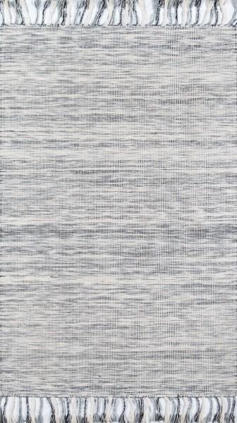 Blue, Ivory, Grey Bohemian Area Rug