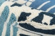Product Image of Blue, Navy, White Bordered Area Rug