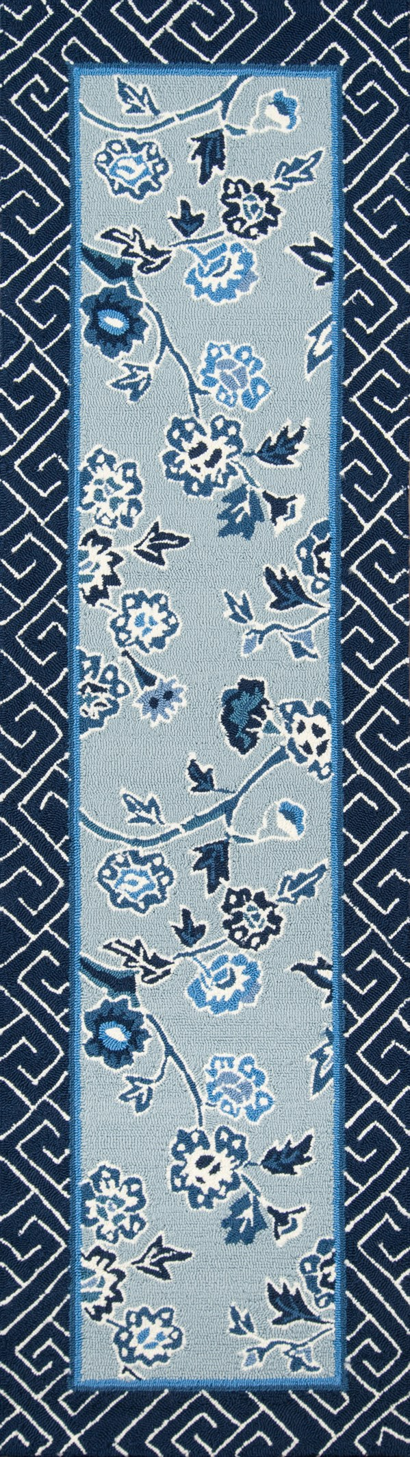 Blue, Navy, White Outdoor / Indoor Area Rug