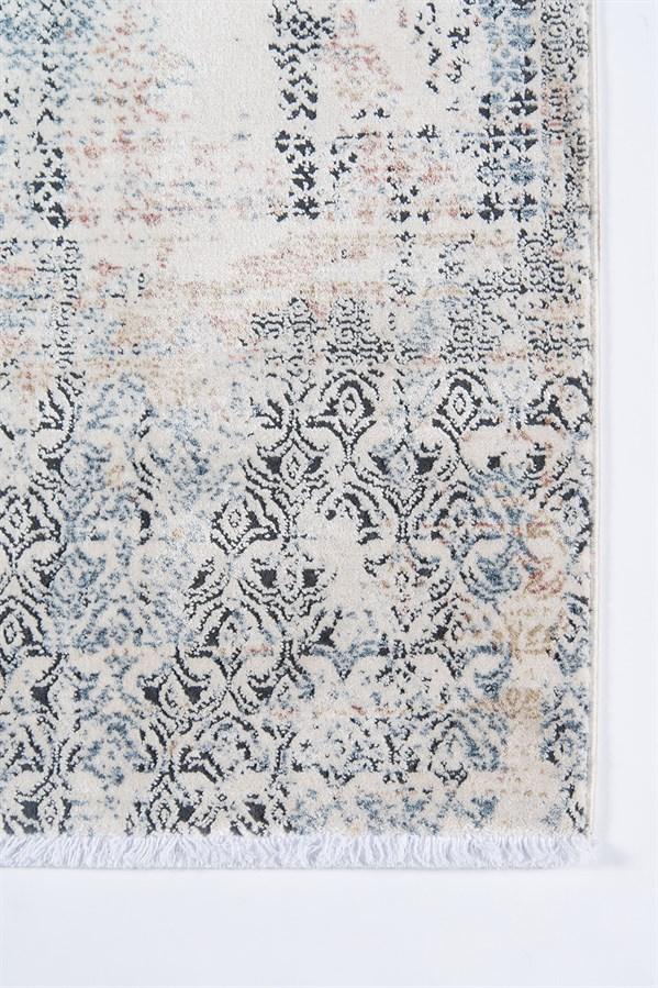 Blue, Ivory Contemporary / Modern Area Rug