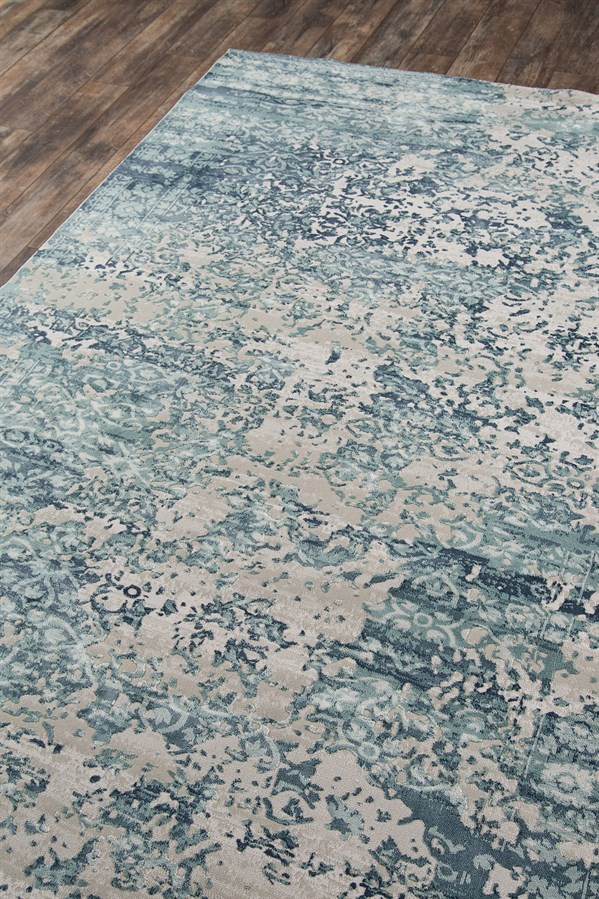 Blue, Grey Transitional Area Rug