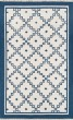 Product Image of Bordered Navy Area Rug