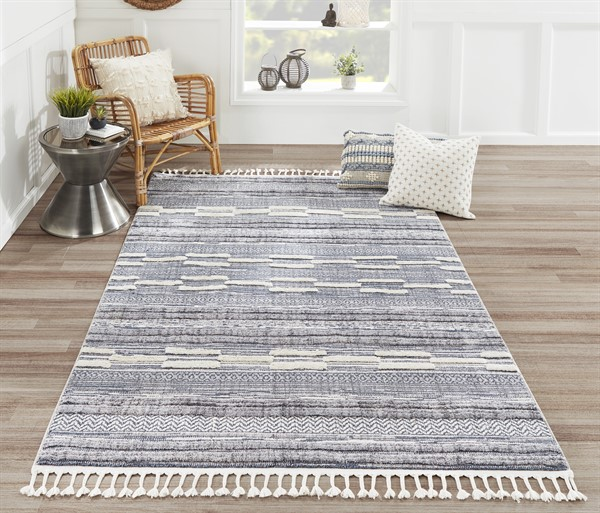 Blue Transitional Area Rug