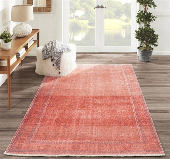 Coral Vintage / Overdyed Area Rug