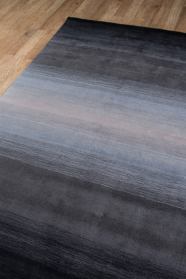 Midnight Black Transitional Area Rug