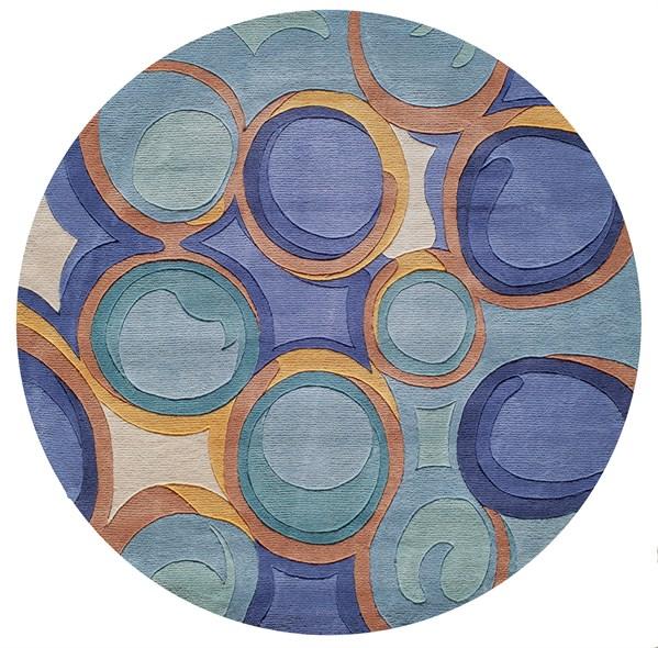 Blue Geometric Area Rug