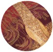 Product Image of Burgundy Contemporary / Modern Area Rug