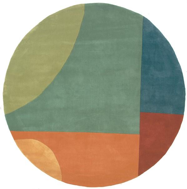 Hawaiian Blue, Picante, Sea Grass Contemporary / Modern Area Rug