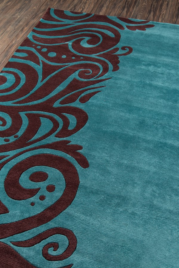 Turquoise Transitional Area Rug