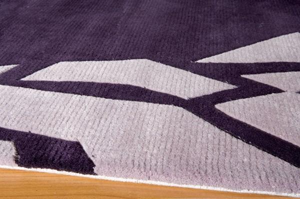 Purple Contemporary / Modern Area Rug