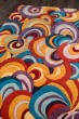 Product Image of Teal, Purple, Gold Contemporary / Modern Area Rug