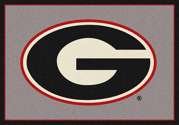 Black, Grey, Red (45287) Novelty / Seasonal / Sports Area Rug