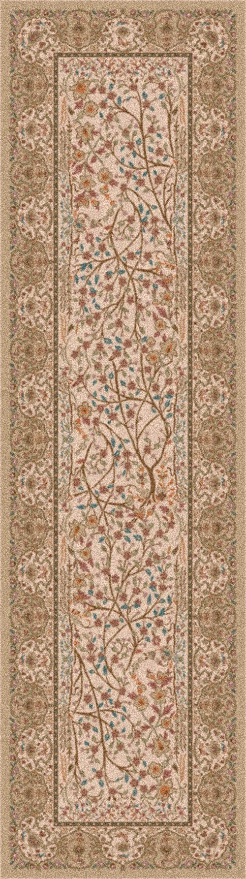 Wheat (221)  Traditional / Oriental Area Rug