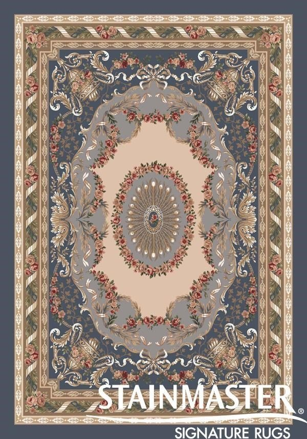 Pewter (5)  Traditional / Oriental Area Rug