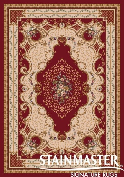Dark Red (213)  Traditional / Oriental Area Rug
