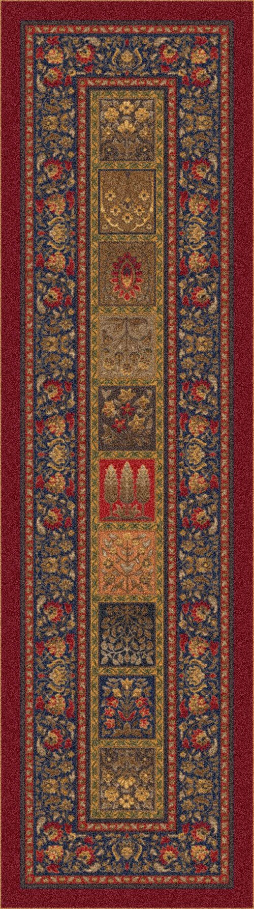 Midnight Red (187)  Traditional / Oriental Area Rug