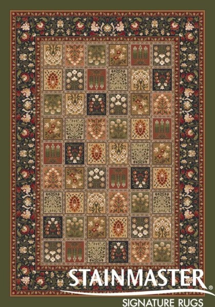 Deep Olive (77) Traditional / Oriental Area Rug