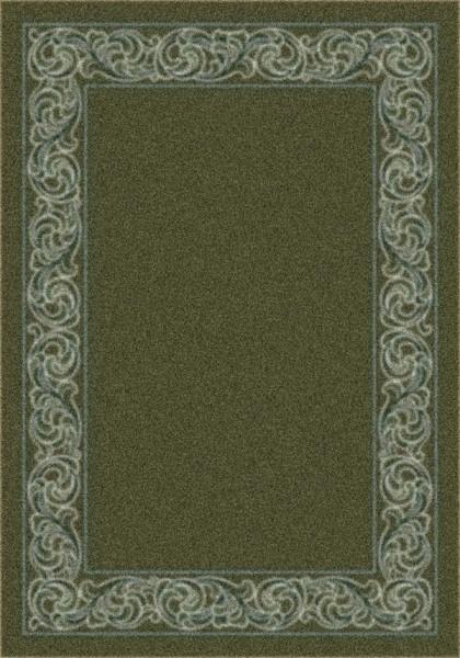 Deep Olive (77) Bordered Area Rug