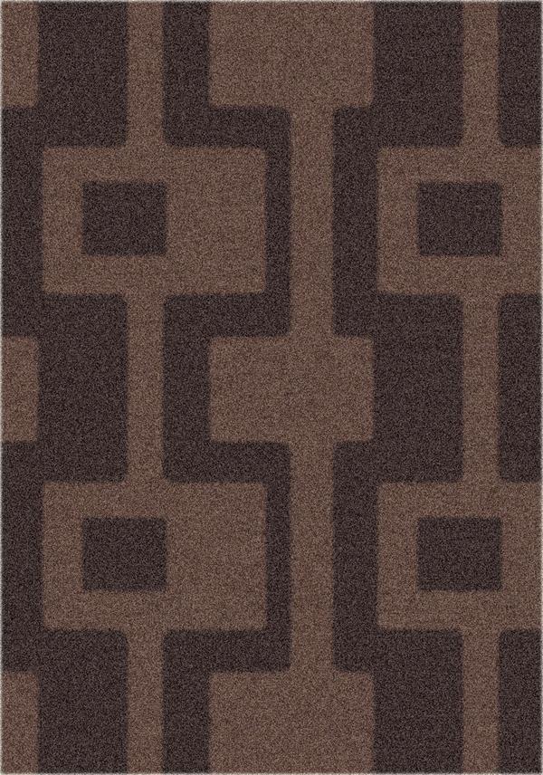 Dark Chocolate (181) Contemporary / Modern Area Rug