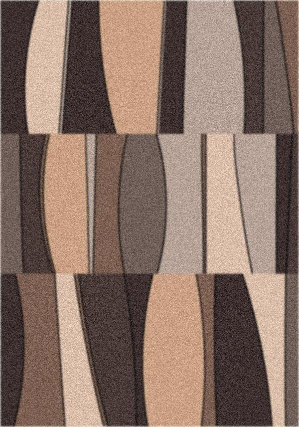 Dark Chocolate (181) Contemporary / Modern Area Rug