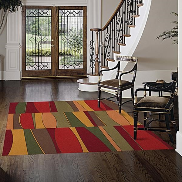 Tapestry Red (187) Contemporary / Modern Area Rug