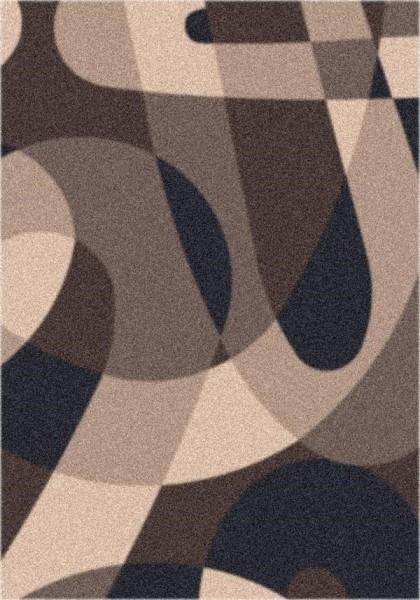 Dark Brown (623) Contemporary / Modern Area Rug