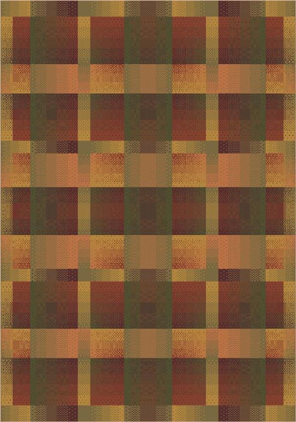 Fall Orange (624) Contemporary / Modern Area Rug