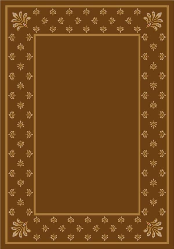Nutmeg (5306) Bordered Area Rug