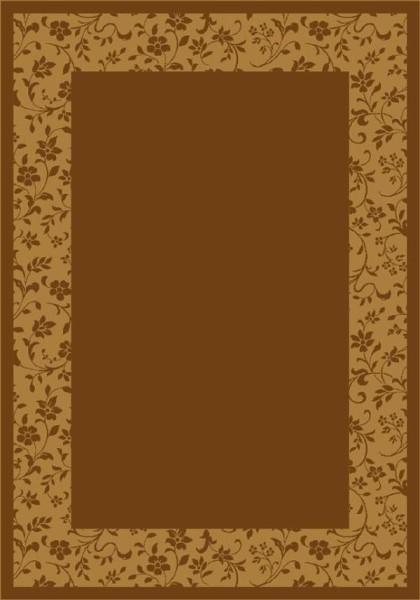 Golden Amber (5406) Bordered Area Rug