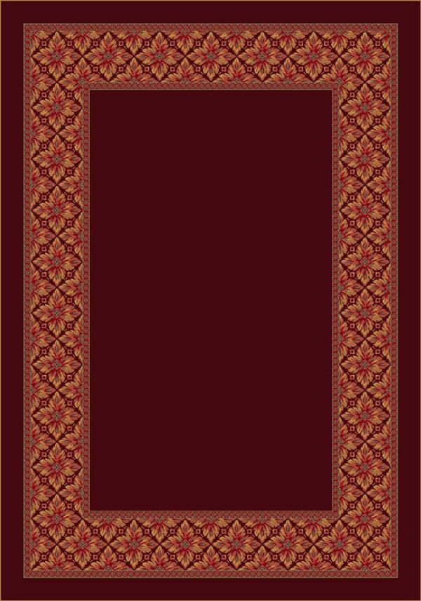Cranberry (10806) Bordered Area Rug