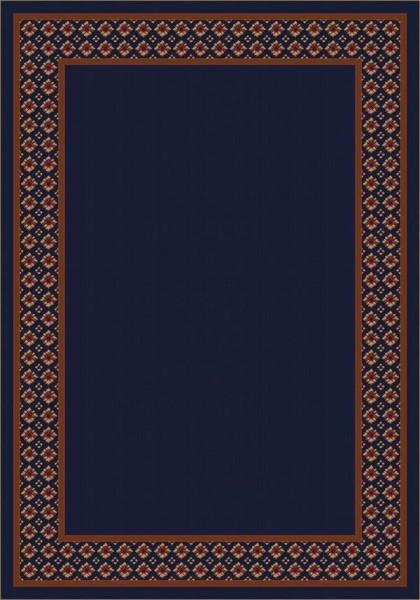 Blue (13006) Bordered Area Rug