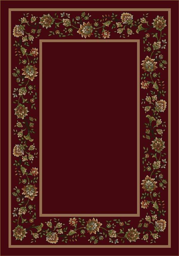 Cranberry (10806) Floral / Botanical Area Rug