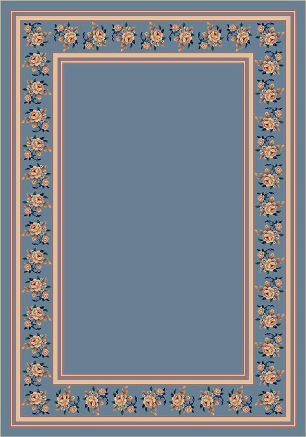 Lapis II (7006) Floral / Botanical Area Rug